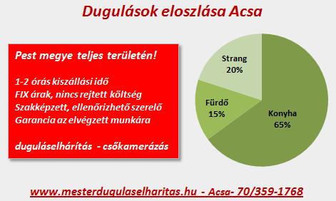 Duguláselhárítás eloszlása Acsa községben.